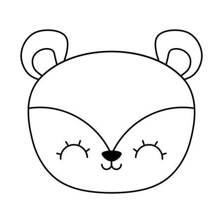 head of cute chipmunk animal icon vector illustration design  イラスト・ベクター素材