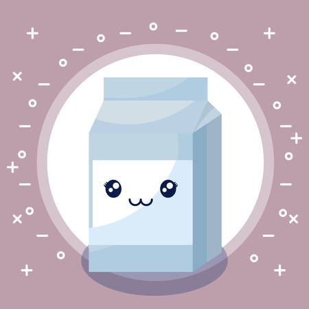 milk in box character vector illustration design Standard-Bild - 130810649