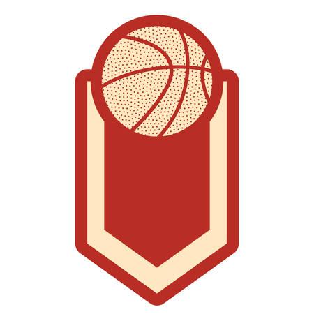 basketball sport ball emblem badge background vector illustration