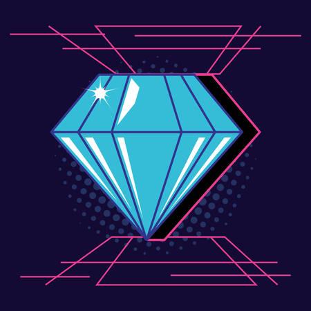 diamond gem isolated icon vector illustration design Stock Illustratie
