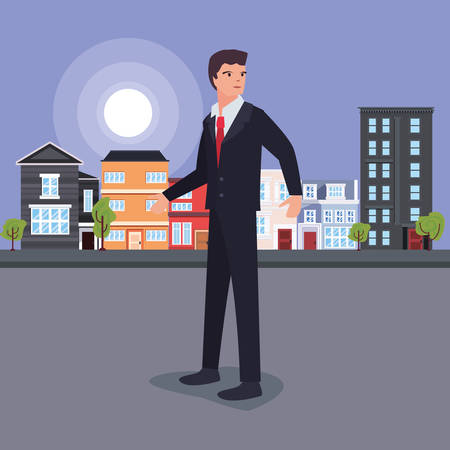 businessman profession labour day vector illustration design