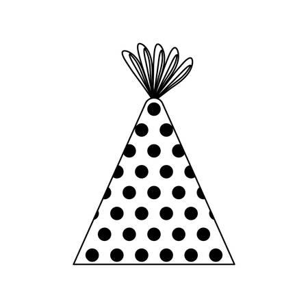 hat party isolated icon vector illustration design Archivio Fotografico - 130810674