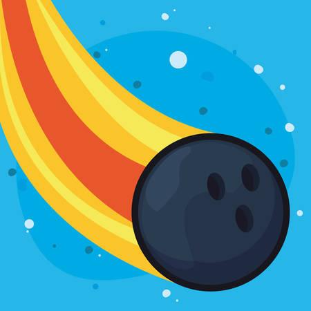 flying bowling sport ball equipment vector illustration 일러스트