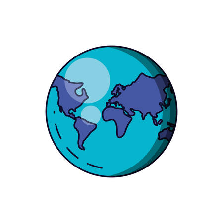 planet earth isolated icon vector illustration design Zdjęcie Seryjne - 130810781