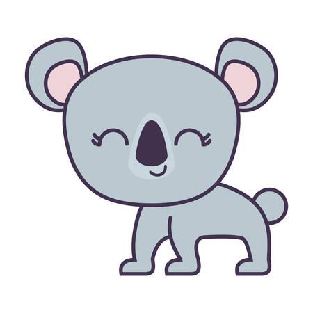 cute koala animal isolated icon vector illustration design