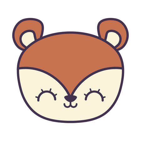 head of cute chipmunk animal icon vector illustration design Illustration