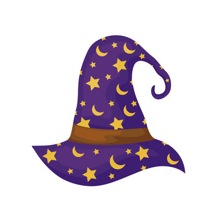 wizard hat traditional isolated icon vector illustration design