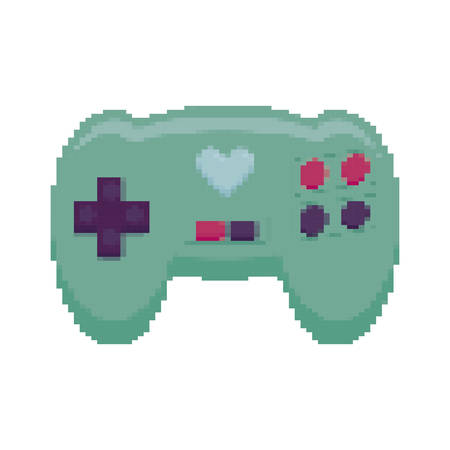 video game control pixelate icon vector illustration design