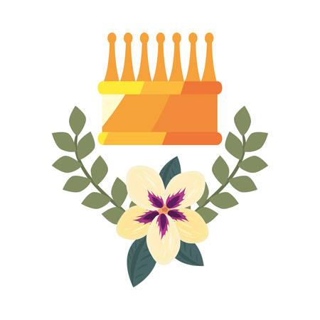 Crown luxury flower on white  vector illustration