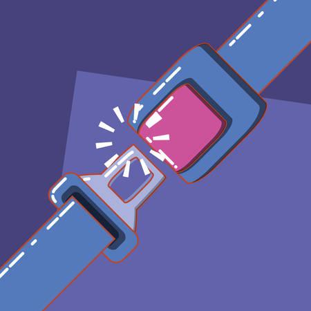 Seat belt drive safe icon vector illustration Illustration