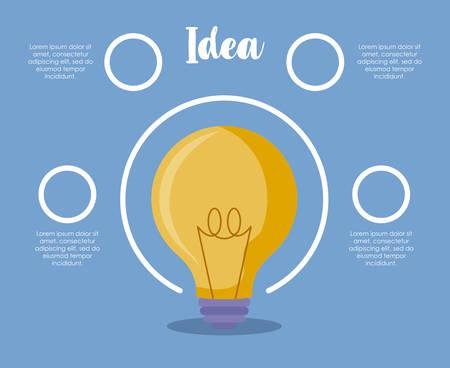 Light bulb idea icon vector illustration design