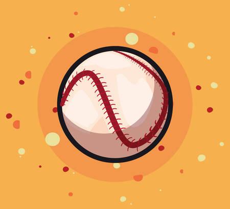 baseball sport ball equipment vector illustration design Stock Illustratie