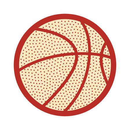 Basketball sport ball design vector illustration design