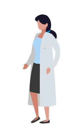 female doctor professional character vector illustration design Illustration