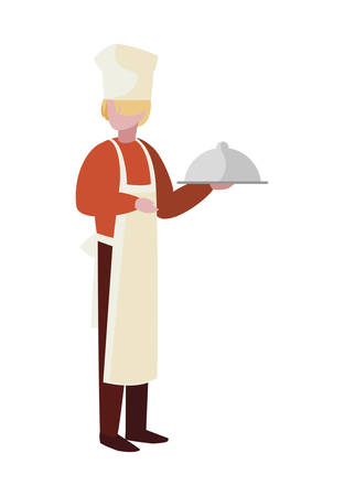 chef worker avatar character vector illustration design Ilustracja