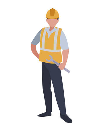 Industrial worker avatar character