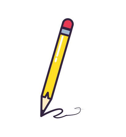 pencil write isolated icon vector illustration design Ilustração