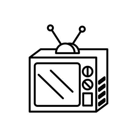 televisor of nineties retro icon vector illustration design