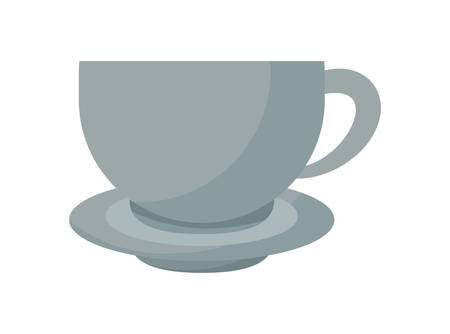 cup with dish isolated icon vector illustration design