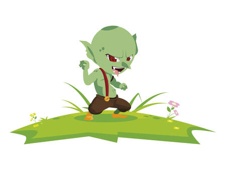 ugly troll in the camp magic character vector illustration design Фото со стока - 130920032