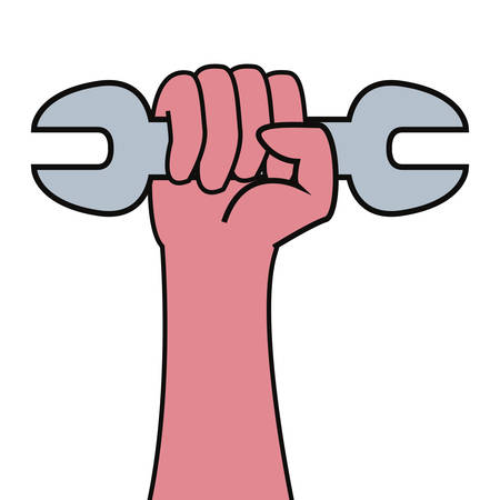 hand wrench construction tool vector illustration design Çizim