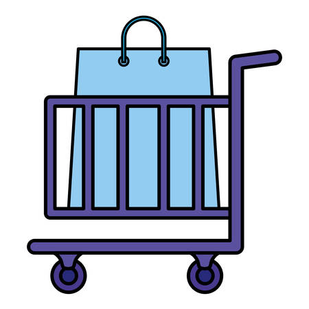 shopping cart with shopping bags vector illustration design Stock Vector - 131034836
