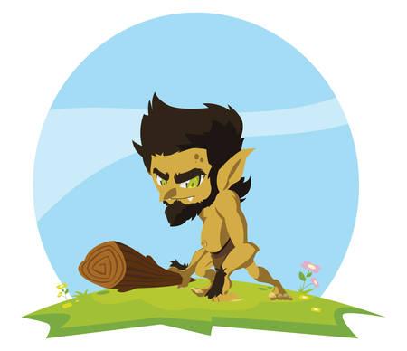 caveman gnome in the camp magic character vector illustration design Фото со стока - 131023748