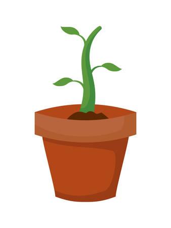houseplant pot isolated icon vector illustration design Иллюстрация