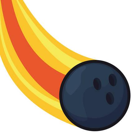 bowling flying ball sport vector illustration design  イラスト・ベクター素材