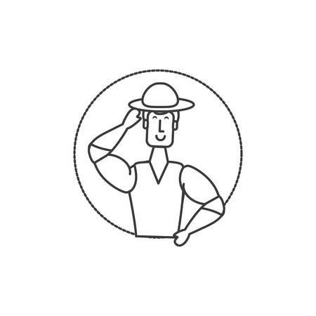 man brazilian dancer character vector illustration design