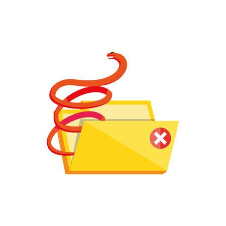 folder document with virus attack vector illustration design
