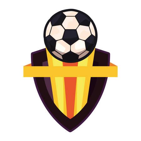 ball sport emblem banner vector illustration design Stock Illustratie