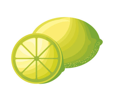 fresh lemons fruits isolated icon vector illustration design Banque d'images - 131218933