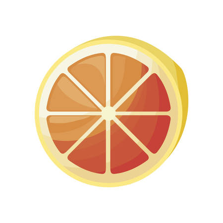fresh half of orange fruit isolated icon vector illustration design Illustration