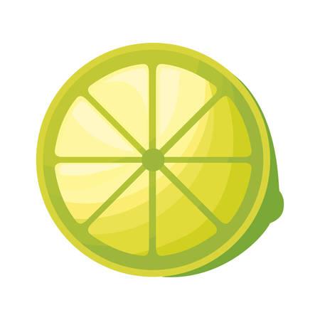 fresh half lemon fruit isolated icon vector illustration design