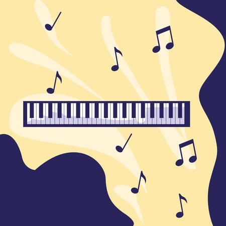 piano keyboard isolated icon vector illustration design 向量圖像