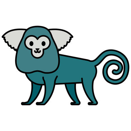 cute exotic monkey character vector illustration design Иллюстрация