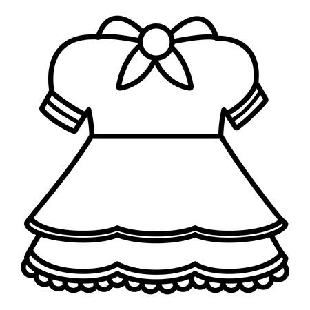 cute girl dress icon vector illustration design
