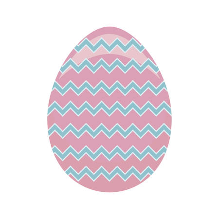 decorated egg of easter vector illustration design