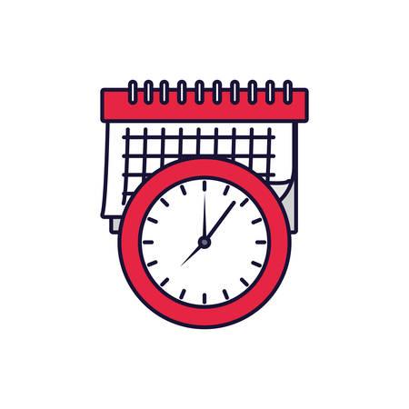 calendar reminder date with clock vector illustration design Ilustracja