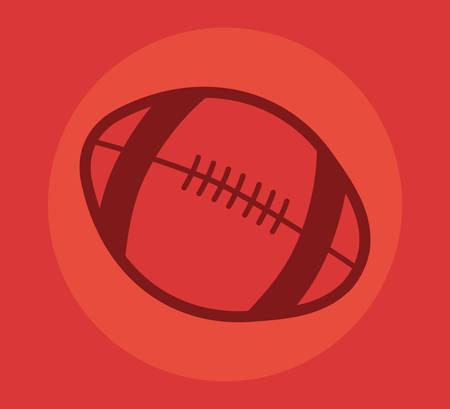 sport ball equipment rugby vector illustration design
