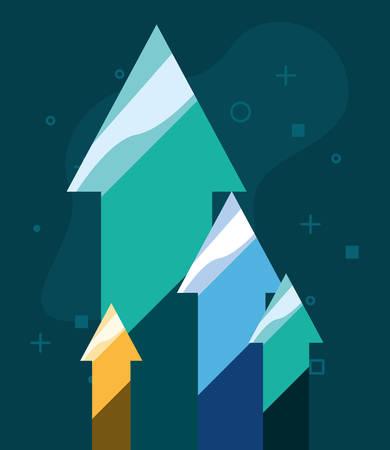 arrows up bank money success vector illustration Ilustracja