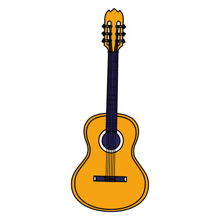 guitar instrument musical icon vector illustration design