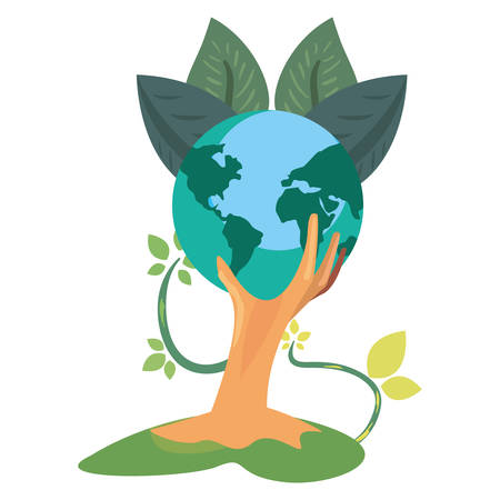 world tree natural leaves earth day vector illustration Ilustracja