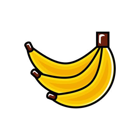 fresh banana fruit icon vector illustration design