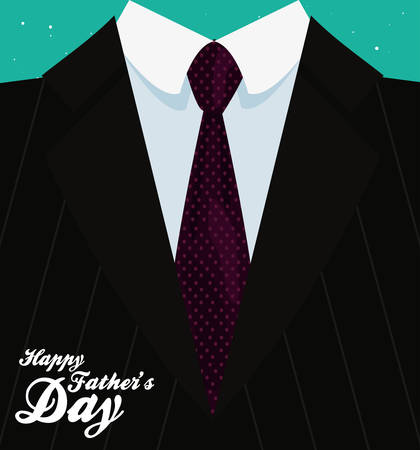 suit tie background happy fathers day vector illustration