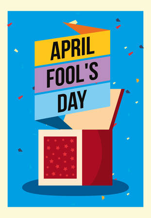 april fools day prank box poster vector illustration 일러스트