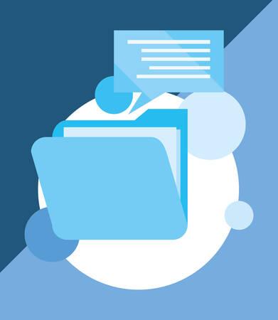 folder file message cyber security vector illustration 向量圖像