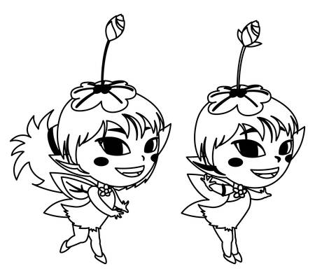 beautiful magic fairies characters vector illustration design