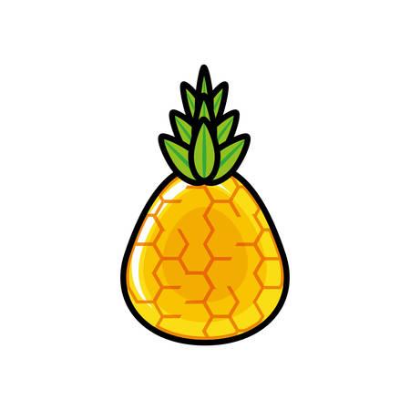 fresh pineapple fruit icon vector illustration design